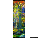 Stained Glass Inc. - White Birch Tiffany Panel #5213 - Stained Glass Window Insert