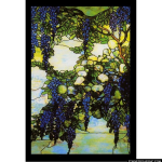 Stained Glass Inc. - Wisteria Tiffany Panel Panel #2899 - Stained Glass Window Insert