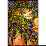 Stained Glass Inc. - Wisteria Window Panel Panel #2901 - Stained Glass Window Insert