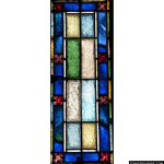 Stained Glass Inc. - Block Design Panel #2830 - Stained Glass Window Insert