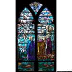 Stained Glass Inc. - Christ Ascends unto Heaven Panel #4101 - Stained Glass Window Insert
