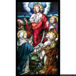 Stained Glass Inc. - Colorful Ascension Panel #2344 - Stained Glass Window Insert