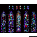 Stained Glass Inc. - The Great Ascension of Christ Panel #3237 - Stained Glass Window Insert