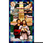 Stained Glass Inc. - Bright Light Baptism Panel #10142 - Stained Glass Window Insert