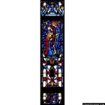 Stained Glass Inc. - Jesus Baptized Panel #4401 - Stained Glass Window Insert