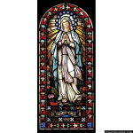 Stained Glass Inc. - The Madonna Panel #4792 - Stained Glass Window Insert