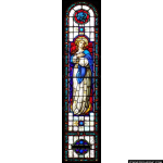 Stained Glass Inc. - The Queen of Heaven and the Angels Panel #4740 - Stained Glass Window Insert
