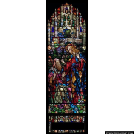 Stained Glass Inc. - Christ Heals the Blind Panel #4301 - Stained Glass Window Insert