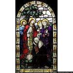 Stained Glass Inc. - Jesus Heals the Sick and the Deformed Panel #5464 - Stained Glass Window Insert