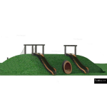 The 4 Kids - Balancing - Play Structures - Tunnel Berm Slide