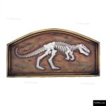 The 4 Kids - Bas Relief - 3ft T-Rex Fossil in Frame