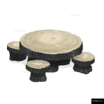 The 4 Kids - Furniture - Playgrounds - Woodland Table and Stool Set