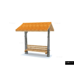 The 4 Kids - Shade/Shelter Structures - Bridger Covered Bench