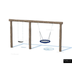 The 4 Kids - Swings - Playgrounds - Basket Swing Combo Set