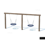 The 4 Kids - Swings - Playgrounds - Double Basket Swing Set