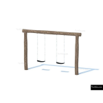 The 4 Kids - Swings - Playgrounds - Double Nature Swing