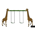 The 4 Kids - Swings - Playgrounds - Giraffe Swing Set