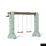 The 4 Kids - Swings - Playgrounds - Medieval Castle Swing Set