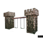 The 4 Kids - Swings - Playgrounds - Medieval Tower Swing Set
