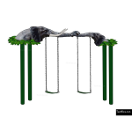 The 4 Kids - Swings - Playgrounds - Mother and Baby Elephant Swing