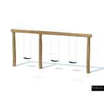 The 4 Kids - Swings - Playgrounds - Triple Swing Set