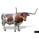 The 4 Kids - Play Sculptures - Texas Longhorn Steer Sculpture
