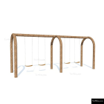 The 4 Kids - Swings - Playgrounds - Arched Double Bay Swings