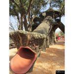 The 4 Kids - Fallen Tree Tube Slide