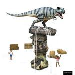 The 4 Kids - Water Features - T-Rex Rock