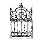 Historical Bronze Works - HBW-GA11 Gates