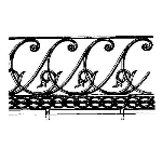 Historical Bronze Works - HBW-RAIL14 Railings