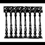 Historical Bronze Works - HBW-RAIL16 Railings