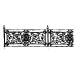 Historical Bronze Works - HBW-RAIL18 Railings