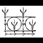 Historical Bronze Works - HBW-RAIL22 Railings