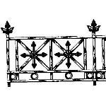 Historical Bronze Works - HBW-RAIL12 Railings