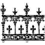 Historical Bronze Works - HBW-RAIL20 Railings