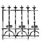Historical Bronze Works - HBW-RAIL24 Railings