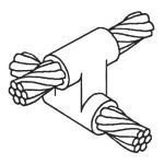 East Coast Lightning Equipment, Inc. - CC-11, Cable to Cable 4 Connections/Offset Parallel