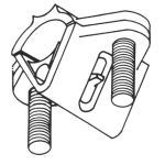 East Coast Lightning Equipment, Inc. - PC1A, Aluminum Small Pipe Clamp