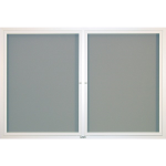 Claridge Products - CONTEMPORARY BULLETIN BOARD CABINETS - HINGED DOORS