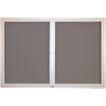 Claridge Products - CONTEMPORARY BULLETIN BOARD CABINETS - SLIDING DOOR