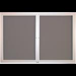 Claridge Products - Contemporary Series Bulletin Board Cabinet