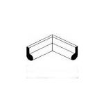 Hanna Rubber Company - Vertical Inside Bulb 90 Degree Corner Rubber Gate Seal