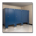 Flush Metal Partitions, LLC - Flushart Powder Coated Toilet Partitions