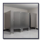 Flush Metal Partitions, LLC - Flushart Stainless Steel Toilet Partitions
