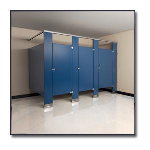 Flush Metal Partitions, LLC - Flushite Powder Coated Toilet Partitions