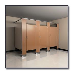 Flush Metal Partitions, LLC - Flushite Solid Polymer Plastic Toilet Partitions