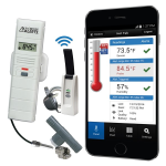 La Crosse Technology - Temp/Humidity Monitor and Alert System with Threaded Wet Temp Probe and Tee Adapter Kit