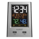 La Crosse Technology - 617-1614 Multi-Color Digital Alarm Clock with USB