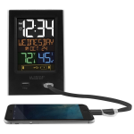 La Crosse Technology - C86224 Alarm Clock Charging Station with Two USB Charging Ports